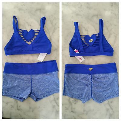 NWT California Kisses dance wear outfit 2 pcs girl's size XL (14)