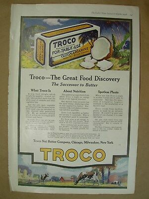 1918 Vtg Big ad Troco The successor to butter - Bucilla Needlework products