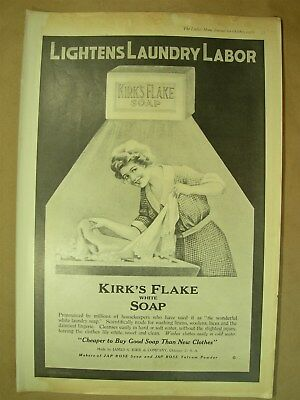 1918 Vtg Big ad Kirks Flake Soap - Armours Oats & Corn Flakes