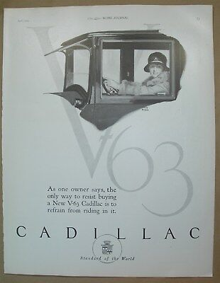 1924 Big ad New V-63 Cadillac Standard of the World- Sweeper-Vac cleaner Vac-Mop