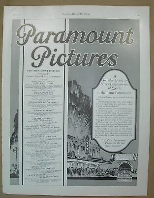 1924 Vtg Big ad Paramount Pictures Screen guide State Theatre Prophylactic Brush