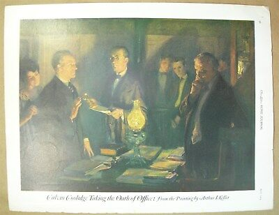 1924 magazine print Calvin Coolidge Taking the Oath of Office by Arthur I Keller