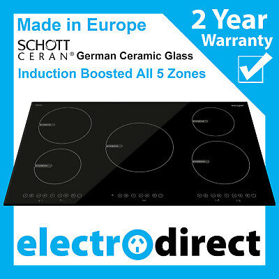 Made in Europe 90cm Induction Cooktop Electric Hob Cook Top Stove Ceramic Glass