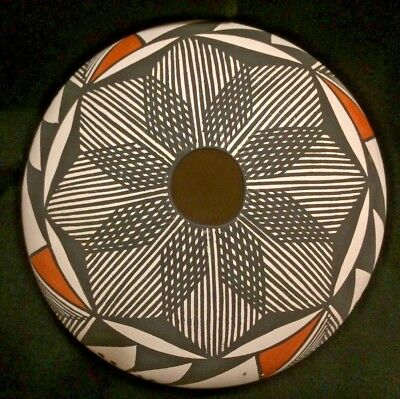 Outstanding Vintage Acoma Pot Handpainted Pot By S. Phillips