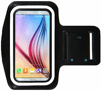 Galaxy S8 S6 / S6 Edge iPhone X Running & Exercise Armband with Key Holder & ...