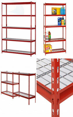 "Muscle Rack UR184872-R 5-Shelf Steel Shelving Unit, 48"" Width x 72"" Height 18"""
