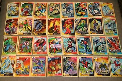 MARVEL 1991 Super Heroes / Villains / Weapons & More 111 Trading Cards