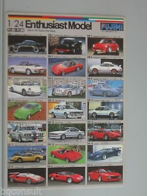 Fujimi Catalog Catalogue 2 Sided Poster Approximately 7X10 Inches