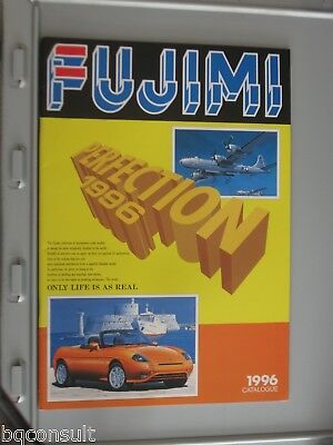 FUJIMI CATALOG CATALOGUE 1996 contains model cars and wheel rim tire tyre sets