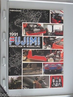 FUJIMI CATALOG CATALOGUE 1991 contains model cars and wheel rim tire tyre sets