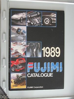 FUJIMI CATALOG CATALOGUE 1989 contains model cars and wheel rim tire tyre sets