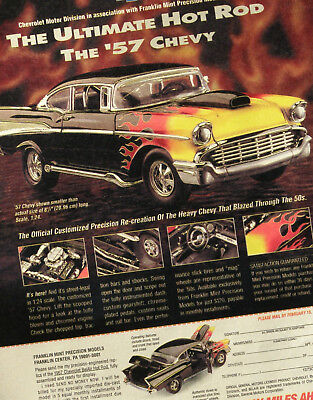'57 CHEVY HOT ROD model car MAGAZINE AD Franklin Mint advertisement