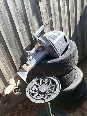 yamaha outboard motor 8 hp boat fishing for parts