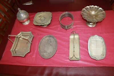 Antique silverware marked and unmarked tarnished