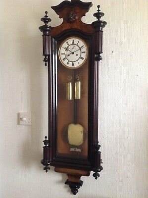 A late 19th century Vienna wall clock