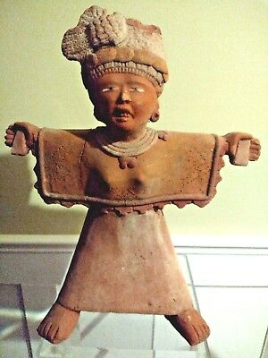 Large Pre Columbian Remojades Vera Cruz Figure - Mexico - 600 to 900 AD
