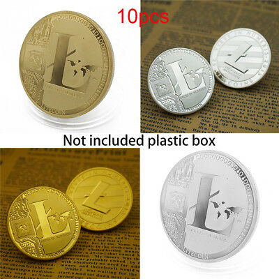 10X Litecoin Coin Commemorative Coin Gold Silver Plated Collection Physical Gift