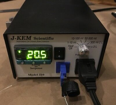 J-Kem 210 Compact Temperature Controller Thermocouple Type T Heating Mantle Lab