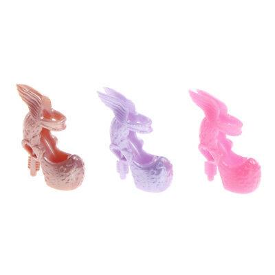 10Pairs Barbie Shoes Wings Design Doll Shoes Barbie Dolls Accessories Gift ycy
