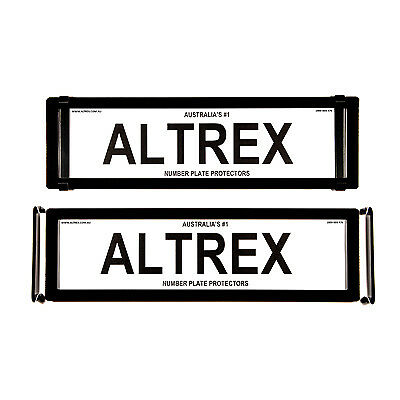 6 figure Number Plate Covers Advanced Dual Slimline Black without Lines Altrex 6