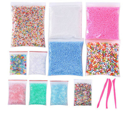 Slime Diy Craft Fishbowl Beads Colorful Styrofoam Foam Balls Homemade Toys