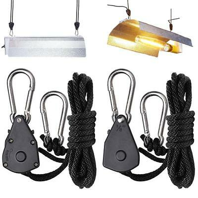 "GROW LIGHT ROPE HANGER RATCHET REFLEKTOR HANGER 150lb 1/8 "" KS"