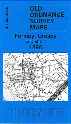 Old Ordnance Survey Map Formby Crosby 1896 Bootle Lunt Maghull Seaforth Sefton