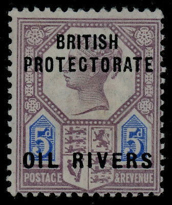 Oil Rivers Protectorate 1892-94 overprints 5d MLH * in perfect condition, SG 5
