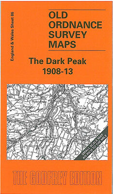 Old Ordnance Survey Map The Dark Peak 1908-13 Glossop Holmfirth Honley Mossley
