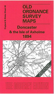 Old Ordnance Survey Map Doncaster Axholme Finningley Owston Tickhill 1894