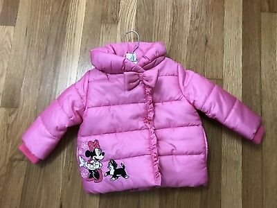 Disney Baby NEW Disney Store Pink Puffer Jacket Baby 18-24 Months Minnie Mouse