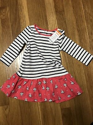 NEW NWT GYMBOREE Best in Show Dog Puppy Striped Dress Size 12-18M Toddler Girl