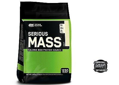 (8,16€/kg) Optimum Nutrition Serious Mass Gainer 5,45kg 6 Sorten,gratis Versand!