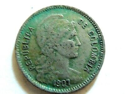 1907 Colombia One (1) Peso Coin