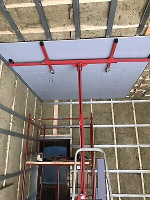 Progen 11 Ft Heavy Duty Lift Lifter Tool Drywall Hoist Plaster Board Panel Sheet