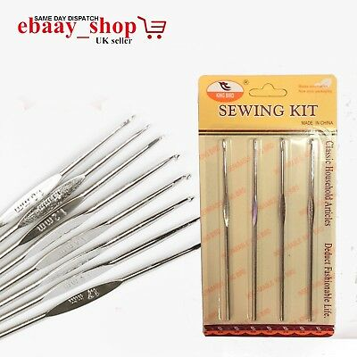 New Crochet Hooks Stainless Steel Crochet Hooks Yarn Knitting Needles Hooks Set
