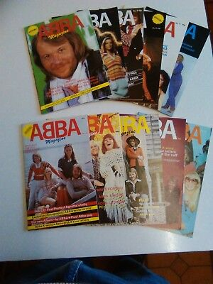 10 x Official Abba Magazines - Issues 2 to 11 and 25