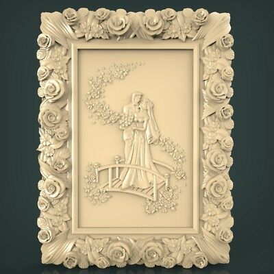 (569) STL Model Wedding for CNC Router 3D Printer Artcam Aspire Bas Relief
