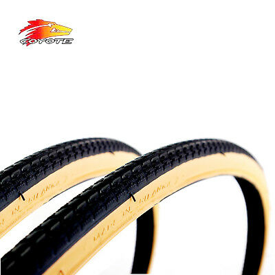 Coyote TY704 700 X 28C Black/Gumwall Road Bike Tyres x2