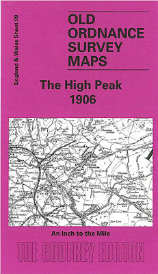 Old Ordnance Survey Map The High Peak 1906 Disley Hathersage New Mills Edale