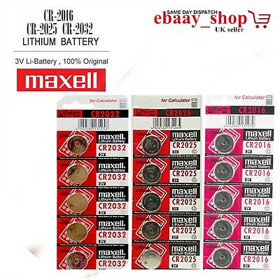 Genuine 3V LITHIUM Button / Coin Cell Batteries CR2016 CR2025 CR2032 CE Approved