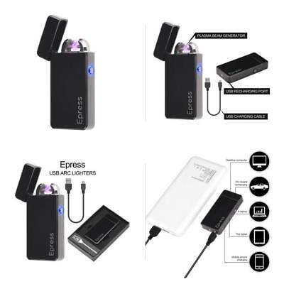 Atomic Electronic USB Lighter Dual Arc Plasma Rechargeable Windproof Flameless