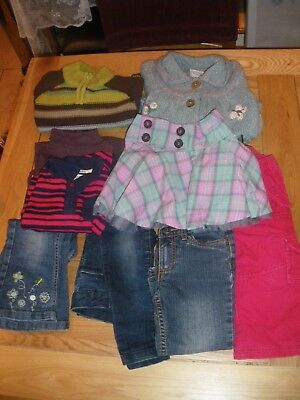 Bundle Of 9 Items Of Girls Clothing Ages 2-3 Most New & Unused