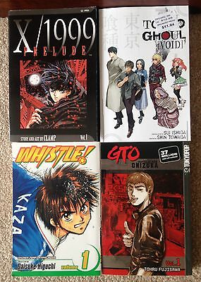 Tokyo Ghoul: Void & 3 MANGA GTO - X/1999 PRELUDE - WHISTLE! Anime Book LOT !!!