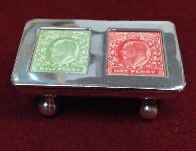 A Superb .925 Sterling Silver  Double Stamp Box