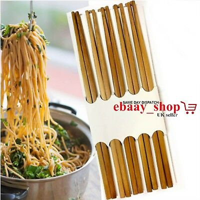 Chopstick Reusable Wooden Bamboo Chinese Japanese Eating Noodels Hair Sticks