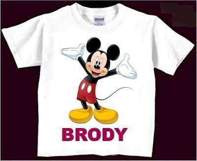 Mickey Mouse Birthday Shirt Personalized Disney Add Name