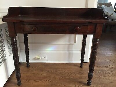 Primitive Federal Period Sideboard or Hunt Table with Hand-Carved Legs