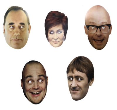 Pack of 5 Famous Celebrities Fancy Dress Masks Perfect For Stag Do Or Hen Night