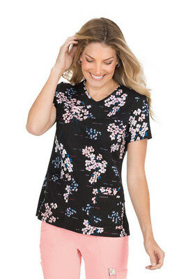 KOI  Serena Scrub Top  352PR-FRT (Flower Twigs) Sizes XS to 3X